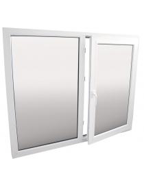 Fenêtre en PVC blanc droite...