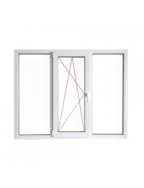 Fenêtre en PVC blanc gauche...