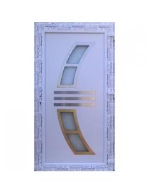 Porte d'entrée PVC blanc...