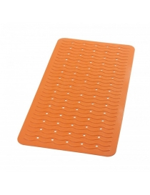 Tapis de bain orange avec...