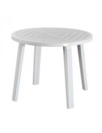 Table en plastique blanche