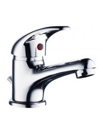 Robinetterie de lavabo chromée