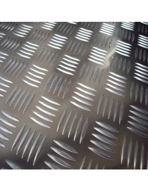 Tôle d'aluminium striée 1.5...