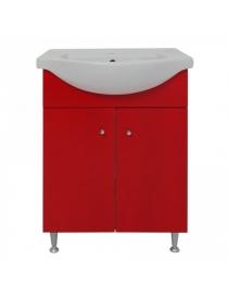 Meuble sous-vasque rouge 60...