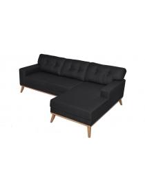 Canapé d'angle tissu noir...