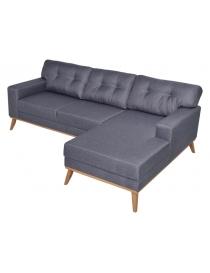 Canapé d'angle tissu gris...