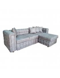 Canapé d'angle gauche gris...
