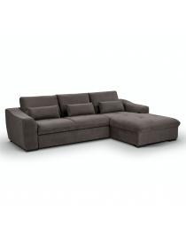 Canapé d'angle gris foncé...