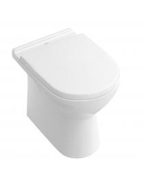 WC  blanc, sortie horizontal