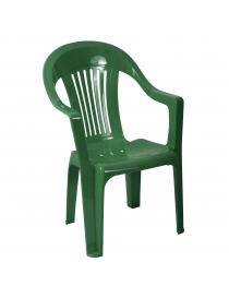 Chaise en plastique vert foncé