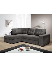 Canapé d'angle droite gris...