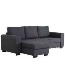 Canapé d'angle gris...