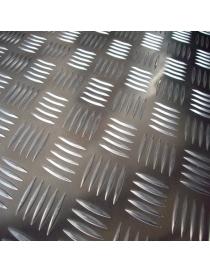 Tôle d'aluminium striée 3...
