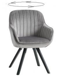 Fauteuil  gris/noir 83 x 61...