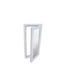 Fenêtre PVC blanc 56 x 116 cm