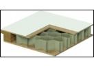 Portes en bois structure cellulaire