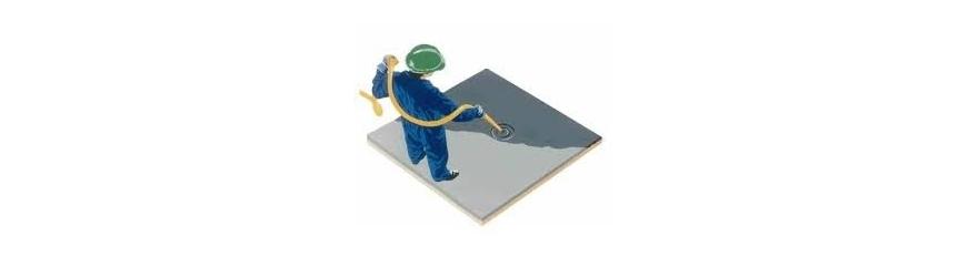 Revêtements de sol à base de ciment, résine et quartz