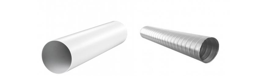 Tubes  de ventilation  PVC et aluminium