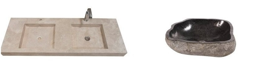 Lavabo en pierre naturelle