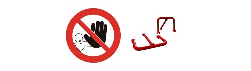 Signaux, barrières et clôtures de protection